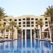 Swimming pool of the luxury hotel, Saadiyat island, Abu Dhabi, U — Stock Photo #61939319