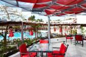 Rekreační oblast pro vodní dýmku kouří v populární hotel, sharm el sh — Stock fotografie