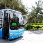 ANTALYA, TURKEY - APRIL 25: The modern bus for tourists transpor — Stock Photo #69123905