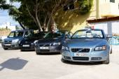 CRETE, GREECE - MAY 15: The cars for rent are waiting for client — Stock Photo