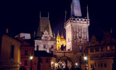 Praga de noche — Foto de Stock