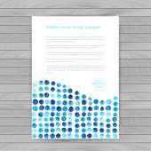Vector watercolor circles. Corporate identity vector blank, back — Stock Vector
