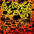 Vector Happy Halloween seamless pattern — Stock Vector #55964361