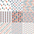 Vector set of seamless abstract hand-drawn pattern. — Stock Vector #55964425