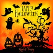 Vector  Happy Halloween greeting card — Stock Vector #55965199