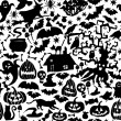 Vector Happy Halloween seamless pattern — Stock Vector #55965449