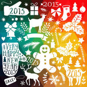 Vector Merry Christmas collection — Stock Vector