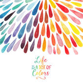 Vector watercolor colorful abstract background. — Stok Vektör