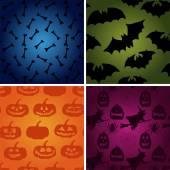 Vector Halloween pattern set. — Stock Vector