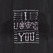 "Tribal lettering ""I love you"". — Stockvector"