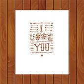 "Vector tribal lettering ""I love you"". — Stock Vector"