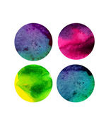 Vector watercolor circles, round shapes — Stock Vector