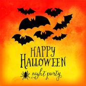 Vector  Happy Halloween greeting card — Stock Vector
