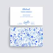 White and blue flower ornament. — Stockvektor