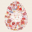 Happy Easter floral card — Stock Vector #66994319