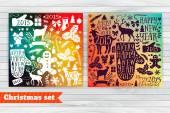 Christmas greeting card template — Stock Vector
