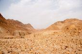 Sten öken i israel — Stockfoto