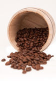 Scattered Coffee Beans — Stock Photo