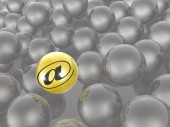 Yellow and grey spheres — Stock Photo