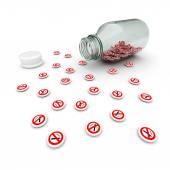 No smoking pills — Stock Photo