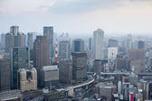 Osaka city skyline from the Umeda Sky Building — Stock Photo