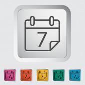 Calendar stroke icon — Vector de stock