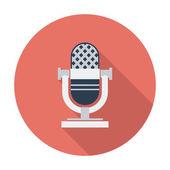 Icon vintage microphone. — Stock Vector