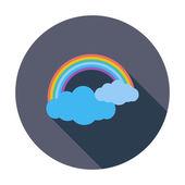 Rainbow single icon. — Stock Vector
