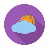Overcast single icon. — Stock Vector