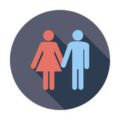 Couple sign — Stock Vector