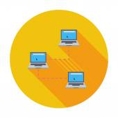 Computer network single icon. — Stock Vector