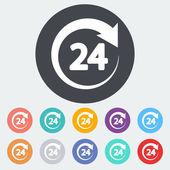 Hours 24 — Stockvektor