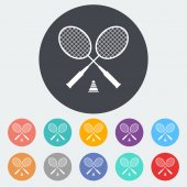 Badminton — Stockvektor