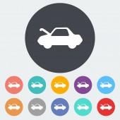 Car flat icon. — Stock Vector
