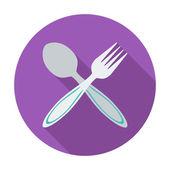 Cuillère, fourchette. — Vecteur