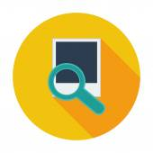 Photo search icon. — Stock Vector