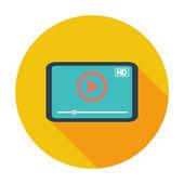 Ikona přehrávač videa. — Stock vektor