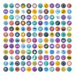 Social media and network color flat icons. — Stock Vector #53640065