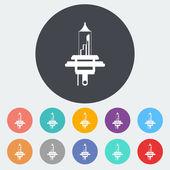Xenon car lamp flat icon — Stock Vector