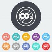 CO2 icon — Stock Vector