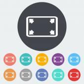 Deploying video icon. — Stock Vector