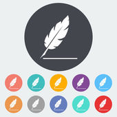 Feather — Stock Vector