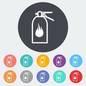 Fire extinguisher icon. — Stock Vector