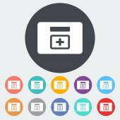 First aid kits icon. — Stock Vector