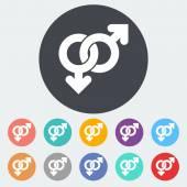 Sinal gay — Vetorial Stock