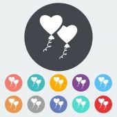 Heart balloon. — Stock Vector