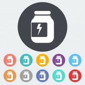 Jar flat icon. — Stock Vector