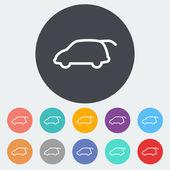 Liftgate car — Stock Vector