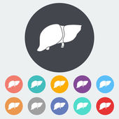Liver icon. — Stock Vector