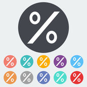 Icon percent sign 2 — Stock Vector